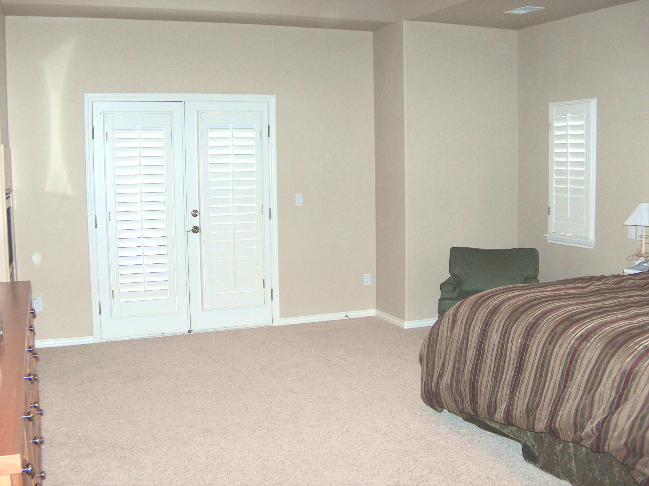Photo of Master Bedroom Before Staging